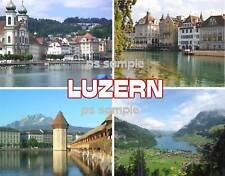 Switzerland - LUZERN - Travel Souvenir Flexible Fridge Magnet