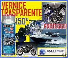 VERNICE 150° SPRAY TRASPARENTE PER MOTORE AUTO MOTO MOTORI MARINI BARCA GOMMONE