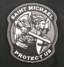 MODERN SAINT ST. MICHAEL PROTECT US ARMY SWAT VELCRO® BRAND FASTENER PATCH