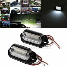 2x LED Rear License Number Plate Lights Lamp For Van Trailer Truck Lorry 12V/24V