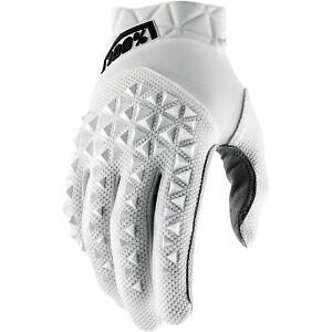100% Men's Airmatic Glove 2021 White All Sizes