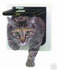 NIB Ideal 4 WAY LOCKABLE Cat Small Dog Pet Interior Exterior Door Flap