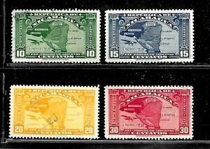 HICK GIRL- USED NICARAGUA STAMPS    1937  MAP ISSUES     E1475
