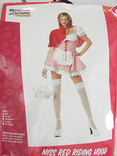 C767 Deluxe Miss Red Little Riding Hood Fairytale Fancy Dress Halloween Costume