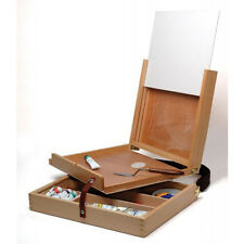 """Artists Wooden Pochade Box takes 12""""x10"""" painting board"""