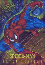 SPIDER-MAN 1995 FLEER MASTERPIECES INSERT CARD 6 OF 9 SPIDER-MAN SCANLAN MA