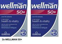 2x Vitabiotics Wellman Multi Vitamins Mineral for Men 50+ UK NO.1 VITAMIN BRAND