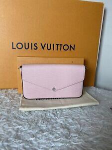 Louis Vuitton Pochette Felicie Rose Ballerine Chain Pink Epi Leather Clutch