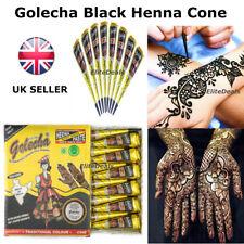 100% PURE GOLECHA BLACK INSTANT HENNA MEHANDI TATTOO CONES IMPORTED BRIDAL CONES