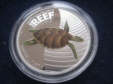 "MDS AUSTRALIEN 50 CENTS 2011 PP / PROOF ""HAWKSBILL TURTLE"",  SILBER"