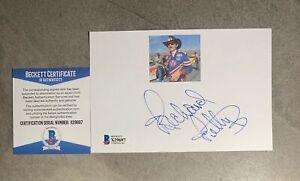 Richard Petty Signed 4x6 Index Card Cut Beckett BAS COA NASCAR Racing Legend