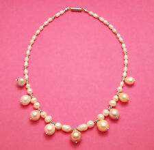 Collier perles d'eau douce gros pendants