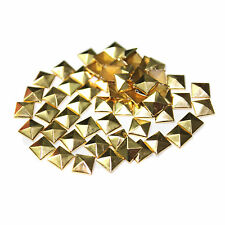 100pc Hotfix Iron 8mm Flat Back Antique Bronze Pyramid Studs FlatBack Stud N3