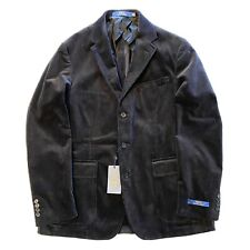 POLO RALPH LAUREN Mens Corduroy Sport Coat Blazer Jacket Black 44 L (MSRP $495)
