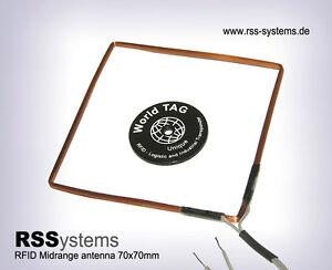 5pcs. RFID HIGH QUALITY 125KHz MIDRANGE ANTENNA MRH70A, 70x70x2,5mm, L=0,5m