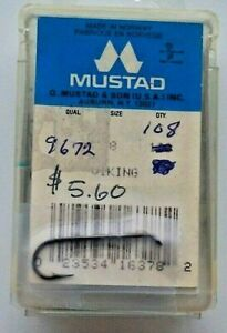 108 Pcs Mustad 9672 3XL  Size 8 Perfect Bend Fly Tying Hook For Material Supplie