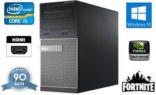 Fast Cheap Dell Fortnite Gaming Quad Core i5 Tower PC Computer Windows 10 Nvidia