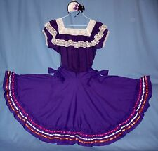 Mexican dress 2-piece skirt-blouse women's 6-8-10 Cinco de Mayo costume;bow;LOT