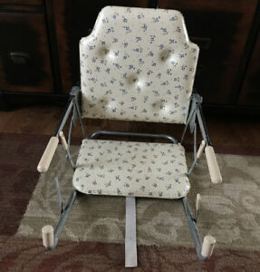Vintage Bilt Rite Tot Loc Lock Clip On Table Top High Chair Booster Seat Floral