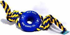 Old Navy Dog Supply Co. Heavy Weight Dog rope pull toy blue + Blue & Yellow rope