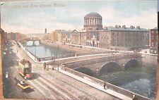 Irish Postcard River LIFFEY & FOUR COURTS Dublin Ireland Valentine Series Inland