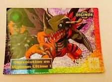 carte Digimon Prism Paillette N 25/32 Trading Card  2000 Digital Monsters FR