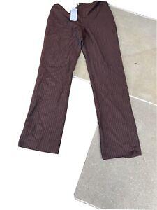philosophy di alberta ferretti Wool/rayon Trousers Size Uk 10 Bnwt Red Detail