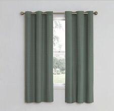 Eclipse Nottingham Energy Saving Single Grommet Curtain Panel - River Blue - NEW