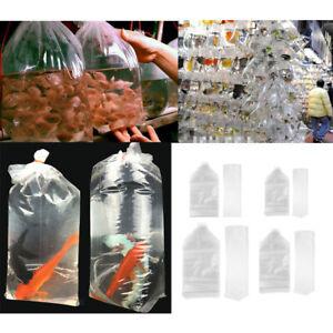 50x Watertight Storage Bags Plastic for Aquarium Fish Aquatic Pets Transport