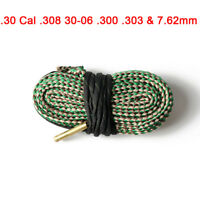 Bore Snake Cleaner Kit .30 Cal .308 30-06 .300 .303&7.62mm Barrel Bronze