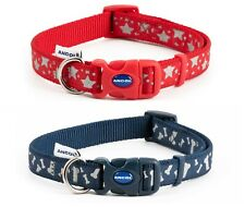 Ancol Indulgence Star and Bone Adjustable Nylon Dog Puppy Collar