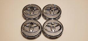 4x TOYOTA WHEEL RIM RIMS CENTER HUB CAP CAPS CHROME LOGO 57MM PRIUS COROLLA