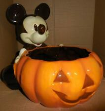 RARE   Disney Mickey Mouse HALLOWEEN Pumpkin - Jack o' Lantern Candy Dish Bowl