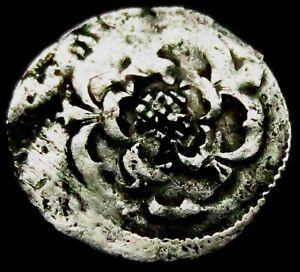 V714: Charles 1st Hammered Silver Stuart Halfpenny, 1625-49, Spink 2851