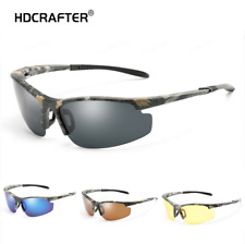 Men Polarized Sports Sunglasses Camouflage Frame Ourdoor Driving Cycling Glasses