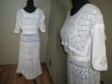 Antique Victorian Edwardian Day Dress~Hand Made Irish Crochet Lace-Bobbin Lace