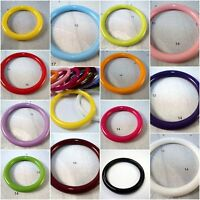 2 x 40mm LARGE PLASTIC BEAD RINGS JEWELLERY MAKING - SELECTION OF COLOURS!