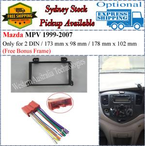 Harness + Fascia facia Fits Mazda MPV 1999-2007 Double Two 2 DIN Dash Kit