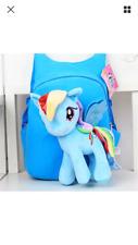 3D Effect MY LITTLE PONY Backpack in Blue. UK Seller