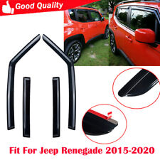 4 Pcs/set Window Deflector Fit For Jeep Renegade 2015-2020 Outside Mount (Fits: Jeep)