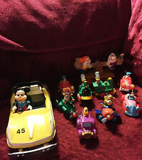 Vintage lot of 10 Disney characters Minatures cars some are metal and 1 large