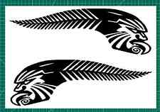The Original SILVER FERN MAORI TATTOO KIWI PRIDE matched pair car stickers