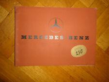 Original Mercedes-Benz Typ 230 1936.