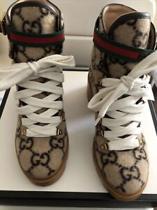 AUTHENTIC Women Brown Ankle Gucci Boots Size US 9