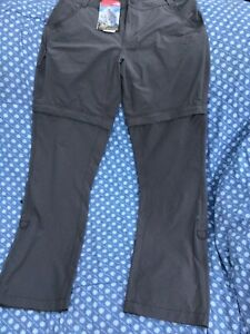 THE NORTH FACE CONVERTIBLE EXPLORATION WOMENS TROUSERS. BROWN SIZE 12. BNWT