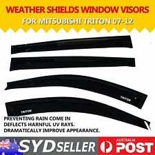 Car Weather Shields Window Visors Rain Guard For Mitsubishi Triton 2007-2012 UTE