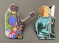 More details for noel & liam gallagher oasis  souvenir enamel pin badge set x 2