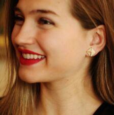 kate spade ny 'locked in' pyramid earrings cream ivory gold ENAMEL STUDS