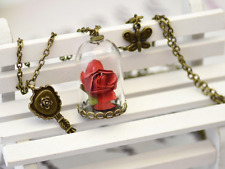 Pink book the little prince and the beauty and the beast girls love pendant