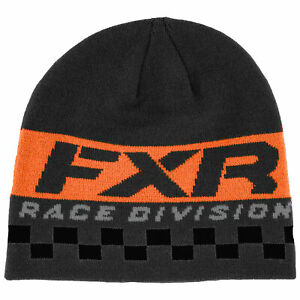 FXR Race Division Beanie Classic Skull Fit Acrylic Jacquard Knit Winter Hat Cap